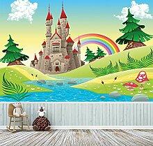 Kindertapete selbstklebend | Burg -