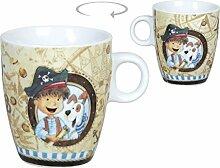 Kindertasse Piratentasse Porzellan Kaffeetasse