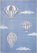 KINDERTEPPICH 160/230 cm Blau, Grau, Weiß