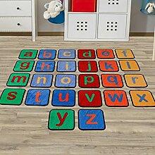 Kinderteppich ABC - 26 Teppichfliesen mit