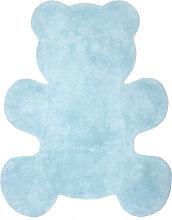 Kinderteppich aus Baumwolle Blau 80x100cm TEDDY
