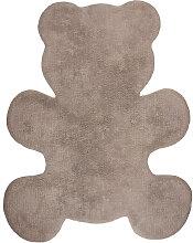 Kinderteppich aus Baumwolle Taupe 80x100cm TEDDY