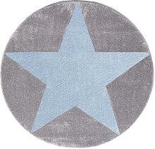 KINDERTEPPICH  Blau, Grau, Silberfarben