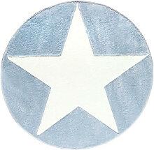 KINDERTEPPICH  Blau, Weiß