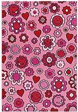 Kinderteppich Blümchen Blumen Teppich