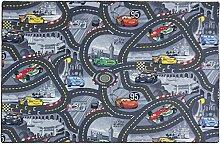 Kinderteppich Disney CARS Teppich Straßen Spielteppich grau 3 verschiedene Größen, Größe:ca. 95 x 133 cm