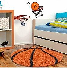 Kinderteppich für Kinderzimmer Basketball Form