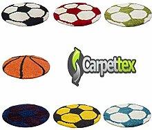 Kinderteppich für Kinderzimmer Fussball