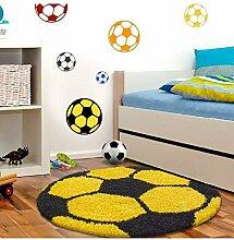 Kinderteppich für Kinderzimmer Fussball Form