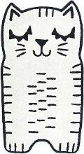 Kinderteppich in Katzenform aus Baumwolle 80x150cm