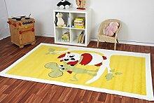 Kinderteppich Kiddy Brilliant Animaldots gelb - Spielteppich versandkostenfrei schadstoffgeprüft pflegeleicht antistatisch schmutzabweisend robust strapazierfähig Kinderzimmer Spielzimmer Kinder-Motiv Kids, Größe Auswählen:120 x 170 cm