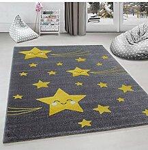 Kinderteppich Kinderzimmer Teppich Sterne Muster