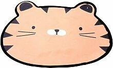 Kinderteppich mit Hasenmotiv, Ø 60 cm, rosa