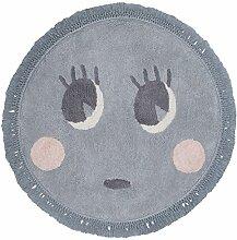 Kinderteppich Nattiot–Rund Molly grau