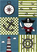 Kinderteppich, Pirat Motiv, intensive Farben,