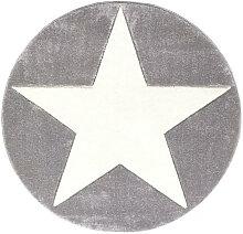 KINDERTEPPICH  Silberfarben, Weiß