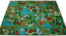 Kinderteppich Spielteppich Camping Hiking Wald