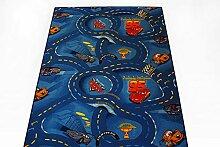 Kinderteppich Spielteppich Disney's Cars blau