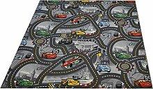 Kinderteppich Spielteppich Disney's Cars grau