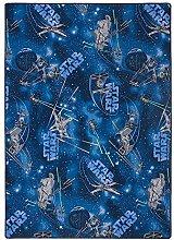Kinderteppich Star Wars Teppich Spielteppich Disney Star Wars Jedi Kinder Türkis, Größe:200x200 cm