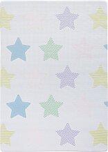 Kinderteppich Sterne, Memory Schaum, blau (0