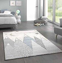 Kinderteppich Teppich Kinderzimmer mit Bergen in