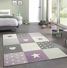 Kinderteppich Teppich Kinderzimmer mit Stern Herz