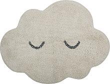 Kinderteppich Teppich Wolke Baumwolle grau