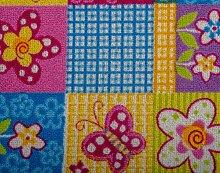 Kinderteppichboden Schmetterling Spielteppich Kinderzimmer Mädchen 450 x 400 cm pink. Weitere Farben und Größen verfügbar