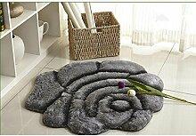 KinderteppichEuropean Style 3D Stereo Seide Rose runden Teppich, Teppich Wohnzimmer, Schlafzimmer Swivel Stuhl Computer Stuhl Mat , diameter 90cm