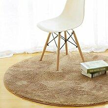 KinderteppichRunder Teppich, einfaches modernes Schlafzimmer Nachttischteppich, Wohnzimmer Couchtisch mit dickeren Stuhl Teppich kriechende Matte , diameter 100cm