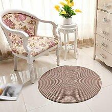 KinderteppichRunder Teppich, Korb Computer Stuhl Teppich, Schlafzimmer Nachttisch Wohnzimmer Teppich, Matten , 2 , diameter 60cm