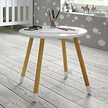 Kindertisch in Weiß/ Pinienfarben 'Leni'