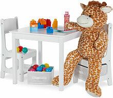 Kindertisch mit 2 Stühlen, Indoor Sitzgruppe für