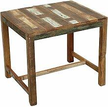 Kindertisch Spieltisch Kindermöbel Vintage Altholz im Shabby-Chic aus massiv Holz Maße: ca. 60 x 50 x 55 cm (L x T x H) - bun