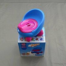 Kindertoilette Baby Töpfchen Lern Klo Toilette Topf Toilettentrainer Blau-Pink