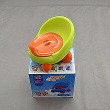 Kindertoilette Baby Töpfchen Lern Klo Toilette Topf Toilettentrainer Grün-Orange