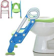 Kindertoilette mit Treppe Armlehnen PU Gepolstert,