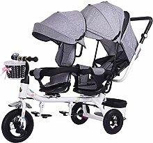Kinderwagen Doppel-Dreirad, Kinder-Doppelsitz