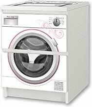 Kinderwaschmaschine weiss Möbelsticker /