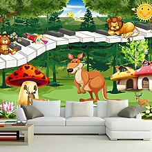 Kinderzimmer 3D Wandbild Tapete Traum Wald Tier