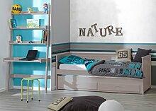 Kinderzimmer: Ausziehbett 90x 200und Büro–Leinen