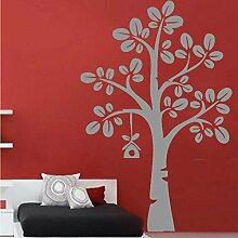 Kinderzimmer Baum und Vogel-Haus Easy Peel and Stick Wandtattoo Vinyl Aufkleber - Farbe wählen