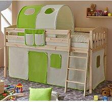 Kinderzimmer Bett mit Tunnel und Vorhang in