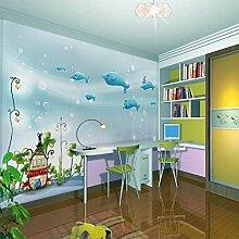 Kinderzimmer Blau Ozean Wandbild Junge Mädchen
