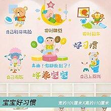 Kinderzimmer Cartoon kreative Wandaufkleber