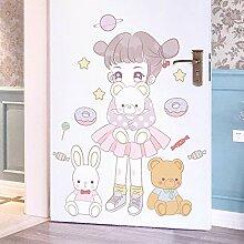 Kinderzimmer Cartoon Mädchen Zimmer Tür