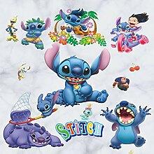Kinderzimmer Cartoon Wandaufkleber Koffer