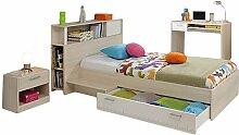Kinderzimmer Charly 3-teilig Akazie grau Bett 90 *