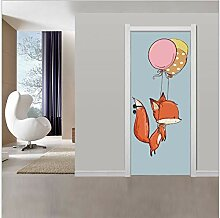 Kinderzimmer Dekoration kreative 3d Tür Aufkleber